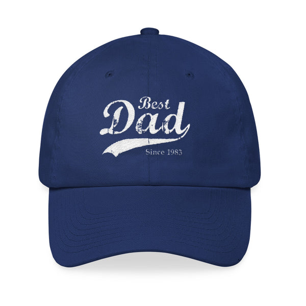 Best Dad Since Navy Blue Baseball Hat