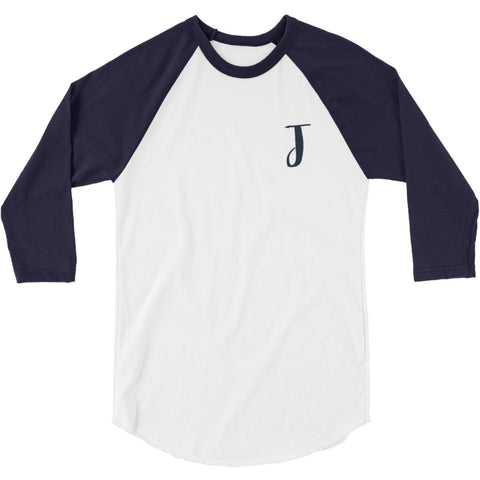 Navy Blue Monogram Women's Raglan Jersey Shirt