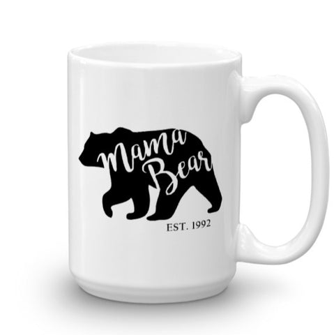 Mama Bear Est. (personalized year) Mug