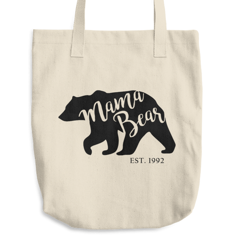 Mama Bear Since (personalized year) Cotton Tote Bag