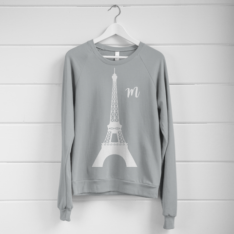 Paris Eiffel Tower Monogram Women's Sweatshirt