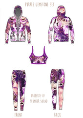 gemstone amethyst slumber squad activewear eco fashion set