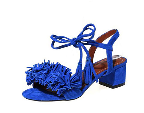 sandal, tassel sandal, footwear, spring summer shoes,block heel,