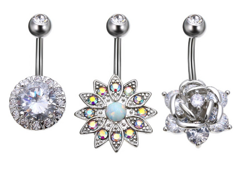 Stardust Sparkle Belly Ring Set