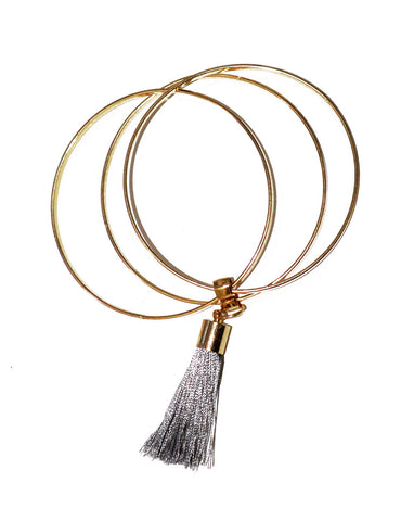 Layered Tassel Bangle