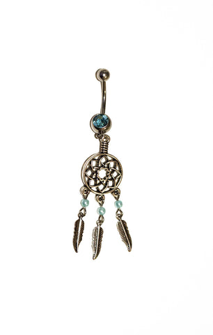 Aqua Dream Catcher Navel Ring