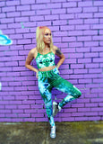 Jade Kaleidoscope Crop Top