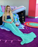 Mermaid Blanket, Mermaid Tail Blanket, Pastel, Baby Blue,