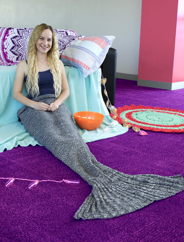 Mermaid Blanket, Mermaid Tail Blanket, monochrome, grey, neutral,