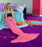 Mermaid Blanket, Mermaid Tail Blanket, pink, pastel,