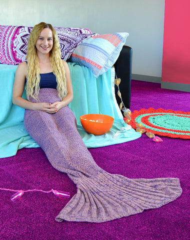 Mermaid Blanket, Mermaid Tail Blanket, Purple, pastel, lilac