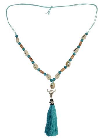 Sea Shell Long Tassel Necklace