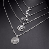 Luna Om Layered Necklace