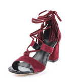 chunky heels, spring summer shoes, heels, tassel lace-up sandal heel,