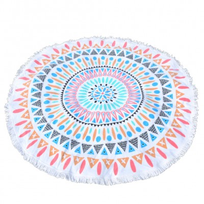 Tropical Chill Round Beach Towel