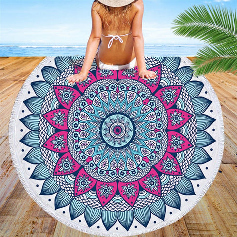 Mermaid Lotus Beach Towel