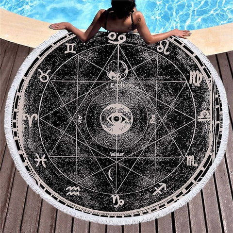 Zodiac Beach Towel
