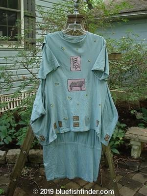 Vintage Blue Fish Clothing 1990 Tunic Dress Cabin Steel Blue OSFA- Bluefishfinder.com