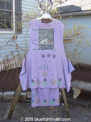 Vintage Blue Fish Clothing 1990 Tunic Dress Mated Skirt House on the Hill OSFA- Bluefishfinder.com