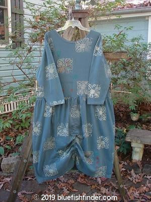 Vintage Blue Fish Clothing 1991 Drapery Dress All Over Daisy Indigo OSFA- Bluefishfinder.com