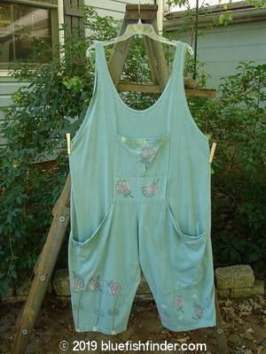 Vintage Blue Fish Clothing 1991 Farmer Brown Stem Florals Ocean OSFA- Bluefishfinder.com