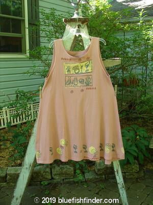 Bluefishfinder.com - 1991 Tab Dress Vintage Goblets Dusty Pink OSFA