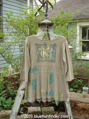 Vintage Blue Fish Clothing 1991 Workshop Dress Primitive Sandstone OSFA- Bluefishfinder.com
