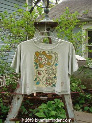 Vintage Blue Fish Clothing 1992 Crop Top Silly Flower Light Sage OSFA- Bluefishfinder.com
