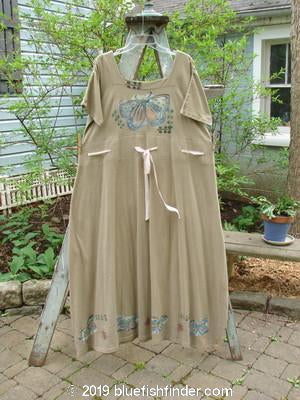 Vintage Blue Fish Clothing 1992 Peasant Dress Butterfly Mushroom OSFA- Bluefishfinder.com