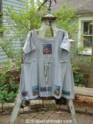 Vintage Blue Fish Clothing 1992 Patched Peasant Tunic Home Blue Ash OSFA- Bluefishfinder.com