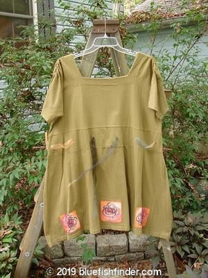 Vintage Blue Fish Clothing 1992 Patched Peasant Tunic Roses Rosemary OSFA- Bluefishfinder.com