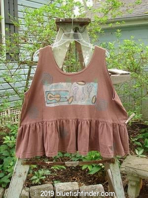 Vintage Blue Fish Clothing 1992 Peplum Top Music Mulberry OSFA- Bluefishfinder.com