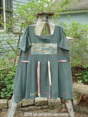 Vintage Blue Fish Clothing 1992 Peasant Tunic Fish Evergreen OSFA- Bluefishfinder.com