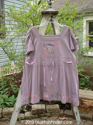Vintage Blue Fish Clothing 1992 Peasant Tunic Teacup Lilac OSFA- Bluefishfinder.com