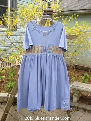 Vintage Blue Fish Clothing 1992 Short Sleeved Simple Dress Periwinkle Size 1- Bluefishfinder.com