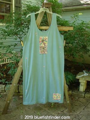 Vintage Blue Fish Clothing 1992 Tank Dress Daisy Grey Green OSFA- Bluefishfinder.com
