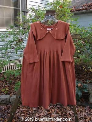 Bluefishfinder.com - 1992 Thermal Silly Collar Dress Terra Cotta Size 1