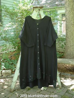 Vintage Blue Fish Clothing 1992 Triangle Cardigan Dress Double Fish Black OSFA- Bluefishfinder.com