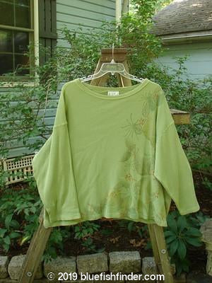 Vintage Blue Fish Clothing 1992 Waffle Top Fall Florals Wheatgrass OSFA- Bluefishfinder.com