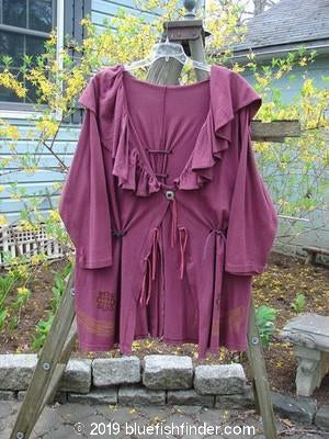 Vintage Blue Fish Clothing 1993 Drape Coat Castle Merlot Size 1- Bluefishfinder.com
