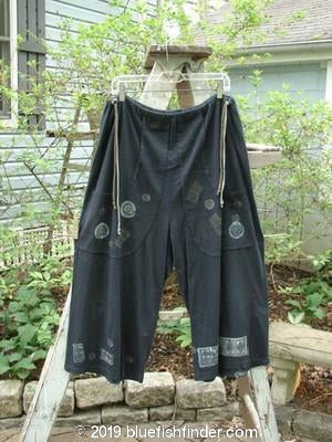 Vintage Blue Fish Clothing 1993 Garden Pant Diamond Black Size 1- Bluefishfinder.com
