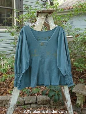 Vintage Blue Fish Clothing 1993 Juliet Top Centered Teal Ocean Size 2- Bluefishfinder.com