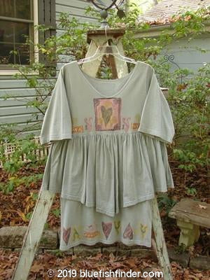 Vintage Blue Fish Clothing 1993 Picnic Dress Center Heart Blue Ash OSFA- Bluefishfinder.com