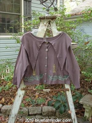 Vintage Blue Fish Clothing 1993 Resort Big Collar Top Circus Dusty Plum Size 1- Bluefishfinder.com