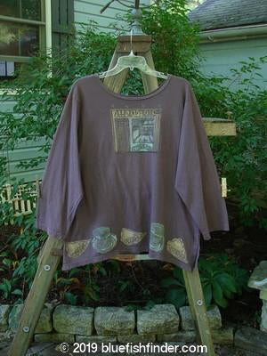 Vintage Blue Fish Clothing 1993 Resort Blueline Top Diner Plum Size 1- Bluefishfinder.com