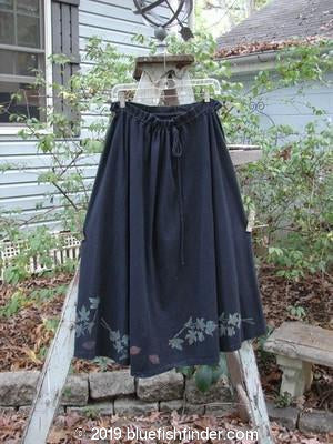 Vintage Blue Fish Clothing 1993 Sweep Skirt Fall Leaves Black Size 1- Bluefishfinder.com