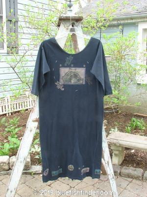 Vintage Blue Fish Clothing 1993 The Basic Dress Circus Tent Black Small Size 1- Bluefishfinder.com
