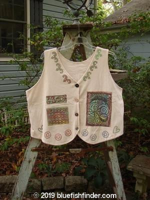 Vintage Blue Fish Clothing 1993 The Vest Brights Tea Dye Size 1- Bluefishfinder.com
