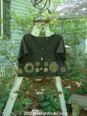 Vintage Blue Fish Clothing 1993 Travel Top Sample Metallic Pinwheel Black Sand Size 0- Bluefishfinder.com