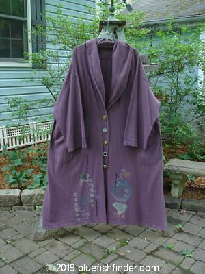 Vintage Blue Fish Clothing 1994 Carriage Coat Asian Fan Fugi Purple OSFA- Bluefishfinder.com